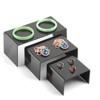 Wholesale black Jewelry Display Stand Toy Mobile Wallet Bracelets Display Shelf Plexiglass Three piece Necklace Earring Rack