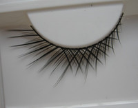 artistic mesh - pairs large ramp dense mesh of high quality artistic personality sharpened hard stems false eyelashes for women makeup T01