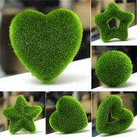 artificial moss balls - Artificial Moss Ball Star for Potted Plant Green Ornament Home Office Decor DIY Simulation Pot Shooting Props