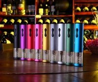 Wholesale Convenient practical rechargeable electric stainless steel wine bottle opener multicolor choice