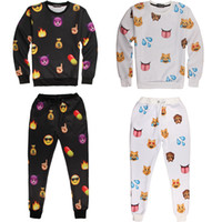sweat suit - Emoji Outfit For Men Emoji Joggers and Sweatshirt Fashion Emoji Jogger Set Iswag Tracksuits D Emoji Sweat Suit Sport Suit Emoji Clothing