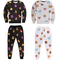 Wholesale Emoji Outfit For Men Emoji Joggers and Sweatshirt Fashion Emoji Jogger Set Iswag Tracksuits D Emoji Sweat Suit Sport Suit Emoji Clothing