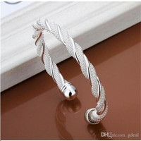 Wholesale High Quality Women s Silver Bangle Bracelets Jewelry Mix Style Fasion Gift Silver Shining Bangle Bracelets DHL