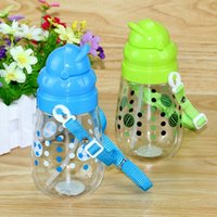 Wholesale Cute Cartoon Water Bottle Plastic Straw Cups ML Student Travel Mug Outdoor Bike Water Bottles Kids Cup JD0050 kevinstyle