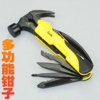 Wholesale Flying deer multifunction pliers hammer screwdriver word cross saw filing multipurpose knife Claw Hammer