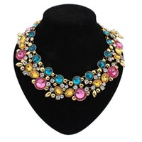 Wholesale 2015 Europen Brand Design Fashion Necklace Collar Necklaces Pendants Statement Necklace Bib Choker Necklaces Jewelry For Women JN06351
