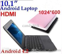 Wholesale DHL New arrival laptop Google Android OS VIA computer for kids notebook inch Netbook MB G wifi HDMI RW L