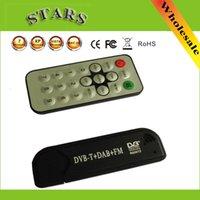 оптовых hd receiver dvb-t-USB Smart TV Стик DVB-T RTL-SDR Digital TV приемник RTL2832U R820T2 тюнер DVB-T + FM + DAB с антенной для ПК с Windows