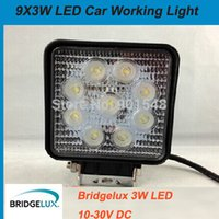 Wholesale 10pcs Bridgelux flood beam LED W waterproof LED light bar car Work Light Fog Light Lamp