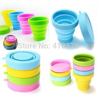 drinking water - Creative Silicone Travel Camping Collapsible Outdoor Folding Cup Retractable Drinking Water Cup
