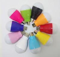 Portable Mini 5W USB Ampoule de Lumière LED Lampe de Lumière ambiante Pour Ordinateur Portable PC de Bureau de la Nuit de la Lecture à la Recherche de Randonnée