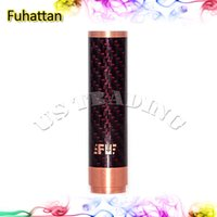 Fuhattan Mod Red Cobre y Cigarrillo Machanical Mods Clone EE.UU. Manhattan Mod Azul Rojo Negro Fibra de Carbono Fuhattan Mods Magnet Bottom e Cig