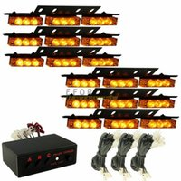 Wholesale Hot sale Amber Yellow x Ultra Bright LED Emergency Warning Use Flash Strobe Light NEW