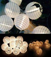 Wholesale 5M LED Lantern Solar String Light Lamps Colorful Chinese Lanterns Led String Light For Outdoor Use Garden Christmas Decoration Light