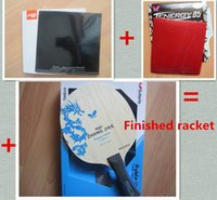 Wholesale Finished racket butterfly zhang jike alc table tennis blade black DHS national hurricane rubber red butterfly T05 rubber