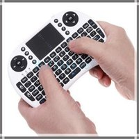 Wholesale 2 G i8 mini wireless keyboard specific multi media remote control and touchpad function handheld keyboard i8 air mouse in stock DHL Free