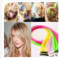 wigs and hair pieces - Europe and the United States streaked wig piece of colored wig wigs hair hair piece