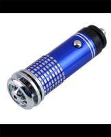 Wholesale 12v mini fashion New black blue red cleaner Mini Auto Car Fresh Air Purifier Oxygen Bar Ionizer