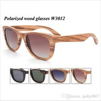 Wholesale Real Full Wood Sunglasses Classic Polarized Glasses Original Wooden Handmade Sun Glasses Fashion Women Men Wood Eyewear W3012