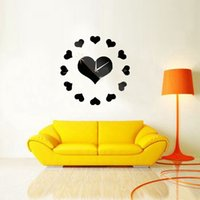 best bedroom wall colors - Excellent Quality D DIY Heart Clock Mirror Wall Stickers Modern Bedroom Home Decor Decal Colors Best Promotion