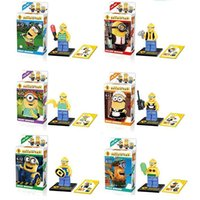 Wholesale Despicable Me myself Luodai Fu Stewart movie Minifigures Set Figure blocks bricks toy Lego compatible