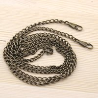 antique sewing accessories - cm long DIY antique Bronze Color Metal Purse Frame Chains Straps handle for Bag Sewing Sewer Craft Accessories