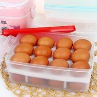 Wholesale Kitchen refrigerator egg storage box portable plastic storage box double layer eggs storage box storage box TY1133