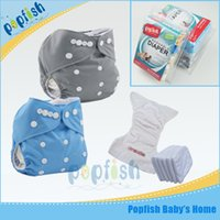 disposable baby diapers - 2pcs Baby Diapers New Print Baby Nappy And Insert Gift Box Packing Disposable Diaper
