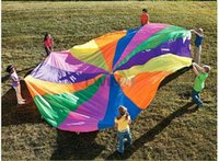 Wholesale Hot Selling M Kid Play Sturdy Parachute Canopy With Handles Exercise Sport Game New and High Quality
