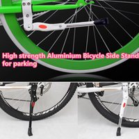 adjustable floor supports - 1 Piece Universal High strength Aluminium Alloy Adjustable Bicycle floor Side Stand support for Road Mountain Bike parking