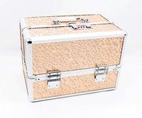 Wholesale 30cm30 cm large professional make up box combination lock inside double makeup bag box jewelry box large space