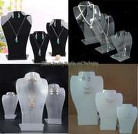 acrylic easels - Acrylic Jewelry Dislay Props Necklace amp Earring Holder Pendant Showing Stand Easel Color Available