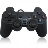 Wholesale PC Wired USB Joypad Game pad Gamepad Joystick Controller Control With Double Shock Support XP Win7 for PC Laptop etc