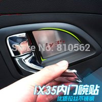 Wholesale 2011 Hyundai ix35 High quality stainless steel Car interior door handle bowl lid stickers door bowl cover