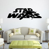 battleship pieces - Newest Star Wars Wall Stickers styles Star Wars Logo Letter Characters with battleship and Lightsaber
