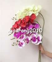 deco - Silk Orchid cm quot Long Fake Phalaenopsis Artificial Flowers Butterfly Orchids for Wedding Xmas Party Home Deco