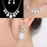 Wholesale Cheap New Styles Statement Necklaces Pearl Sets Bridesmaids Jewelry Lady Women s Prom Party Fashion Jewelry Earrings