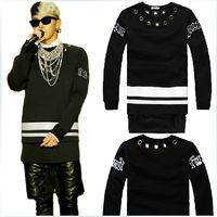 Wholesale new autumn dress hoody hiphop men s Straight fleece Extended jumper fleece sweatshirt Casual
