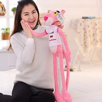 pink panther - 55CM super cute Nici pink panther plush toys baby pink naughty leopard stuffed animals plush dolls kids birthday gift HX