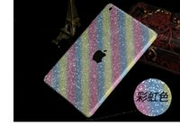 Wholesale Luxury Full Body Shiny Glitter Rainbow Cover For Apple Ipad Bling Diamond Colorful Front Back Sides Skin Case Sticker