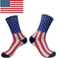 elite socks - American Flag Socks Brand Striped Elite Outdoor Men Sport Socks Women Harajuku Cotton Calcetines Male Stockings Diamond Skateboard socks