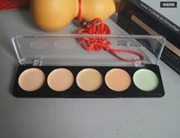 Cheap FREE SHIPPING new PROFESSIONAL 5 COLOR Camouflage Cream Concealer palette 5 x 2g (120 pcs lot)