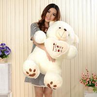 beige teddy bear - Beige Giant Big Plush Teddy Bear Soft Gift for Valentine Day Birthday