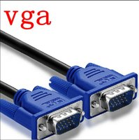 Wholesale m Ft SVGA VGA Monitor M M Male To Male Extension Cable Ship From USA Blue Projectoer Connected Cord Cable Support Full P HD