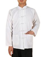 Wholesale long sleeve Chinese shirt chinese traditional clothing chinese kung fu tee mandarin collar shirt cotton linen shirt