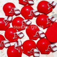 american football helmets - 600pcs x1 Red American Football Helmet Resin Cabochons Flatbacks Scrapbooking Girl Hair Bow REY226