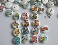 arabic baby clothes - WB0108 decorative wood buttons for baby clothes Arabic Number printed mm wood button Mix randomly
