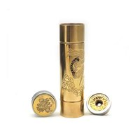 Wholesale 18650 mechanical mod new emma mod with cool design engraved log and serial number silver plated contact pin