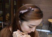 Cheap Headbands metal headband Best red, blue, black, coffee, pink and so on fashion butterfly ribbon ribbon headband