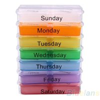 Wholesale Medicine Weekly Storage Pill Day Tablet Sorter Box Container Case Organizer Health Care AL1